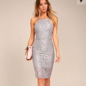 Lulu's Wishful Wanderings Lace Bodycon Dress